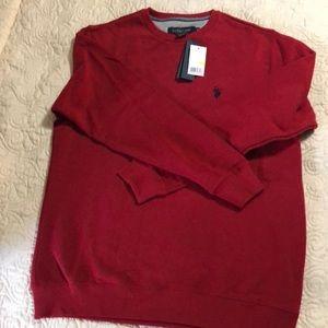 Men's red polo sweatshirt
